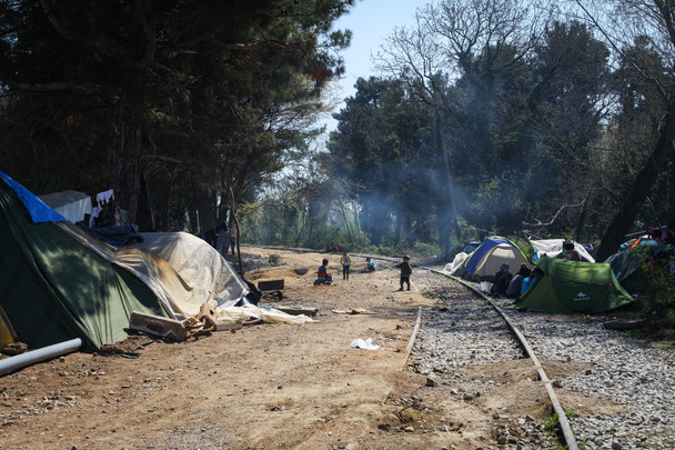 Idomeni border camp. April 2016
