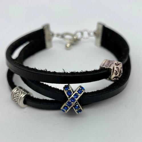 X Leather Bracelet