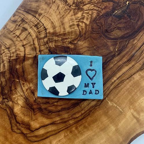 Soccer Ball Dad Fridge Magnet