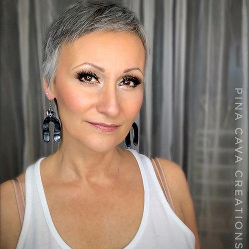 Polymer Clay Wishbone Earrings