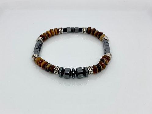 Hematite & Tigers Eye Bracelet