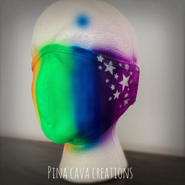 Rainbow Face Mask