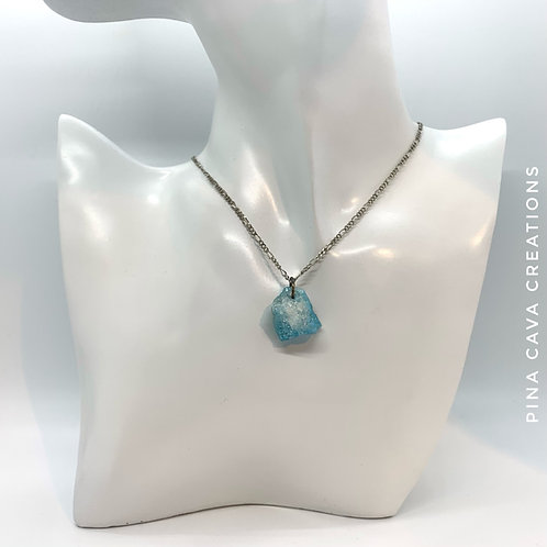 Aqua Nugget Necklace