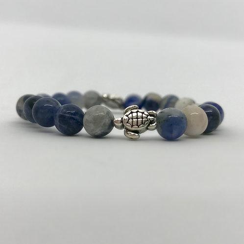 Sodalite Turtle Bracelet