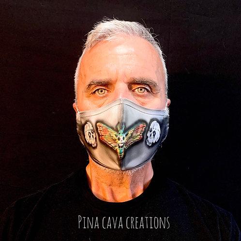 Skull Head Moth Face Mask