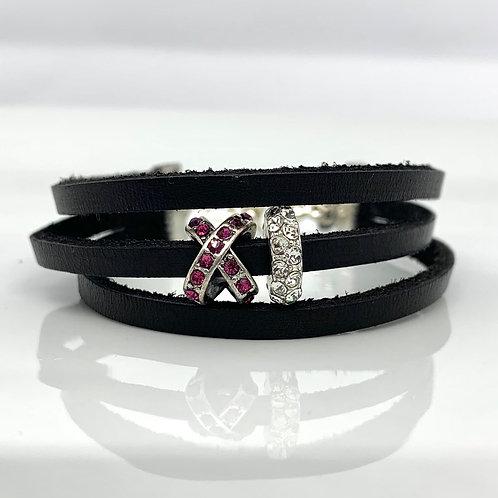 X & O Leather Bracelet