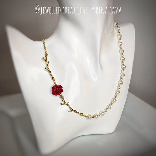 Rose & Pearl Necklace