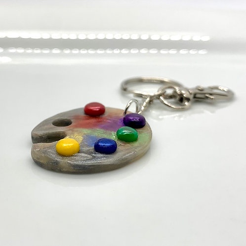 Polymer Clay Artists Palette/Keychain