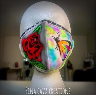 Butterfly & Rose Face Mask