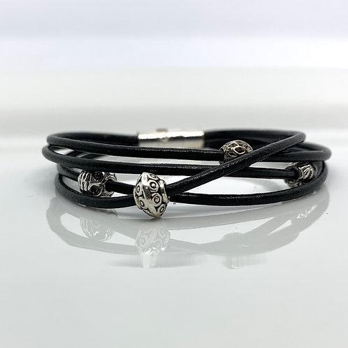 4 Strand Leather Bracelet