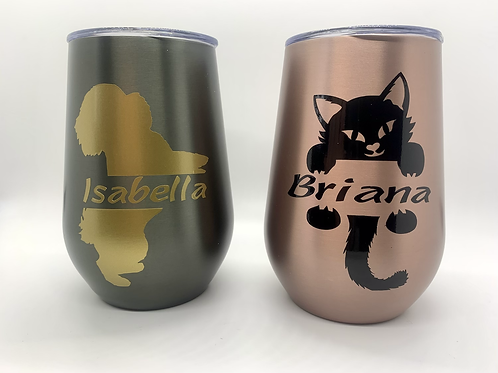 Personalized Thermal Coffee Mugs / Stemless Wine Tumblers
