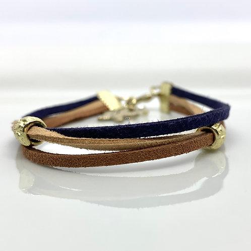Blue Suede Bracelet