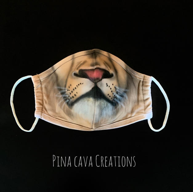 Leo Airbrushed Face Mask