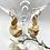 Thumbnail: Rose Gold Disk Earrings