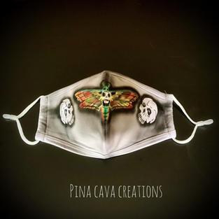 Death's Head Hawk Moth Face Mask