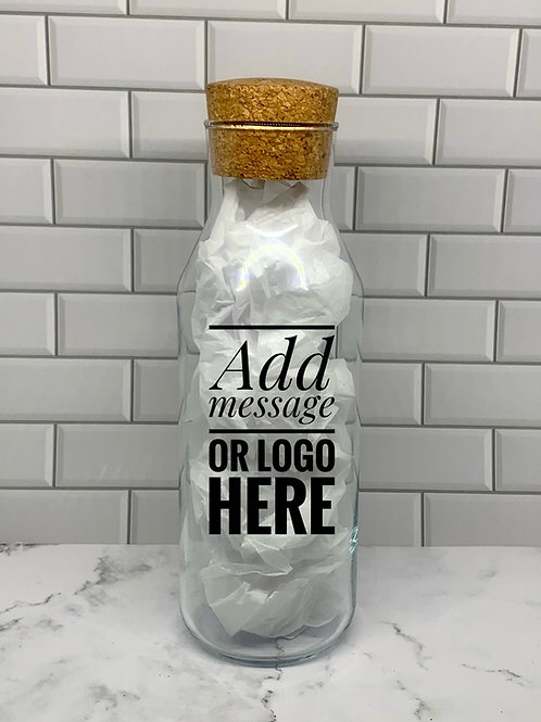 Personalized Glass Bottle With Cork