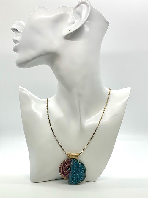Art Deco Polymer Clay Necklace