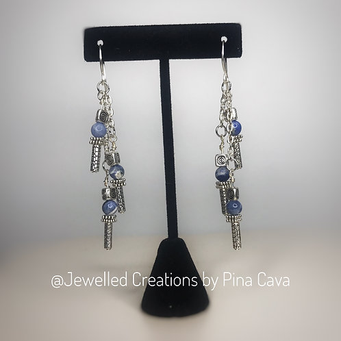 Sodalite Strand Earrings