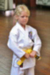 First Tae Kwon Do Perth yellow belt female student