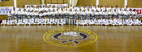 First Taekwondo Perth - Instructor and Black belts 2016