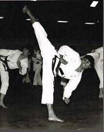 First Tae Kwon Do - Master Vernon Low sidekick 1970s