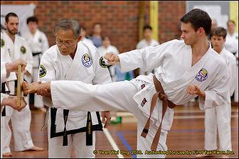 first taekwondo - Master Vernon Low teaching