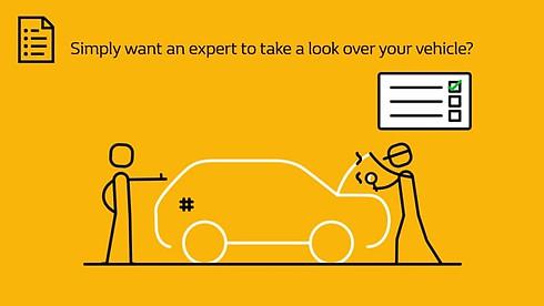 Renault Showroom Animation - Vehicle Health Check