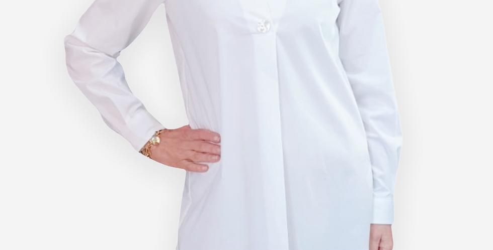 Pupa Milano White Collar Shirt