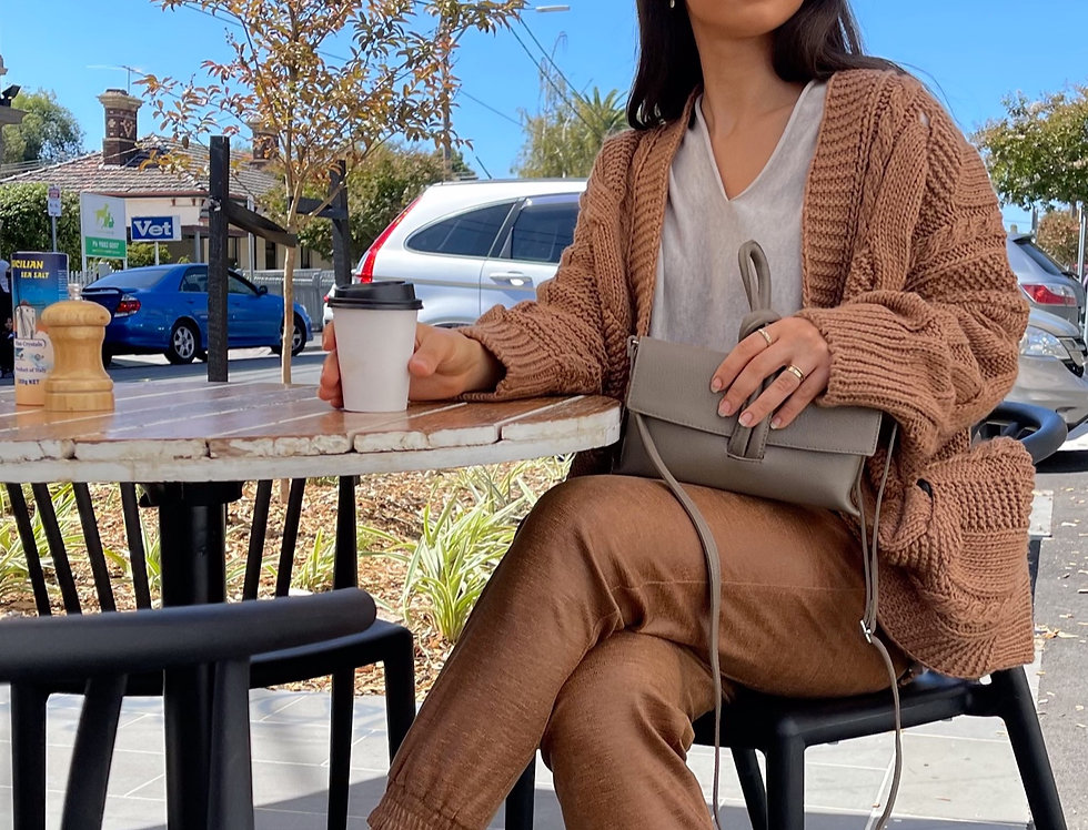 Donnaeffe Milan Chunky Cable Knit Cardigan
