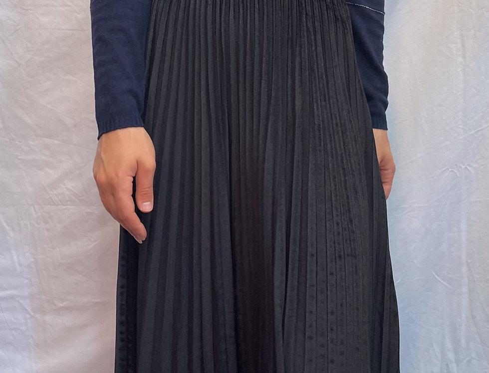 Natacha Paris Velvet Pleated Skirt