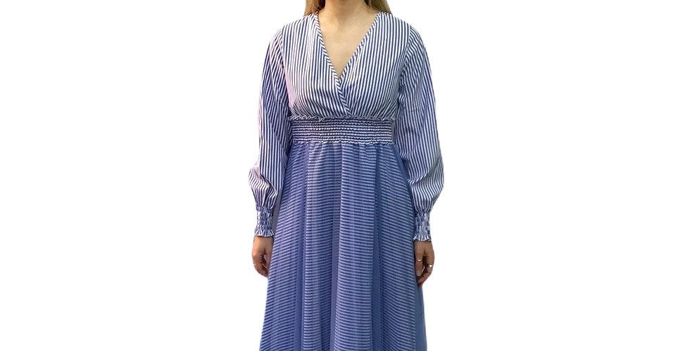 Absolu Paris Long Pleated Spring Dress