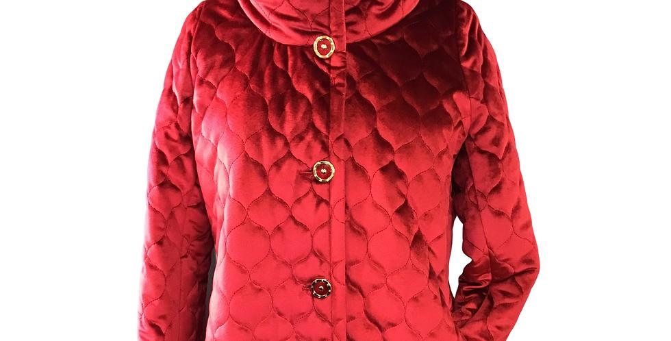 Zoe Milano Quilted Velvet Jacket