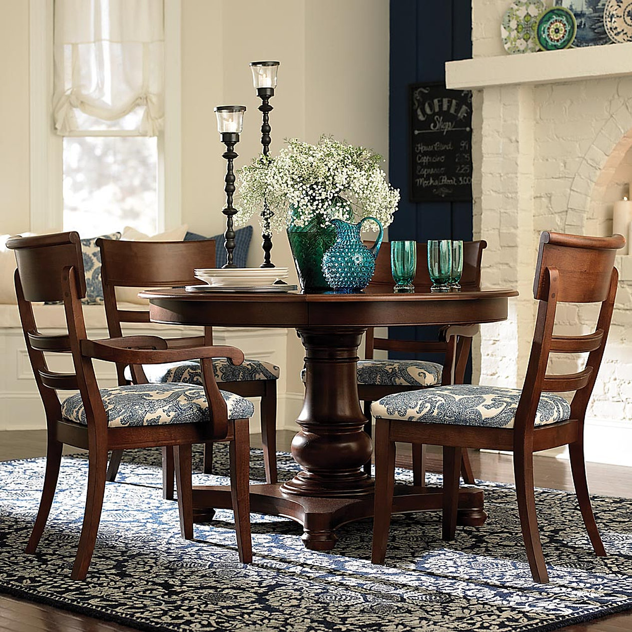 compass square ottoman cocktail table bassett dining room sets