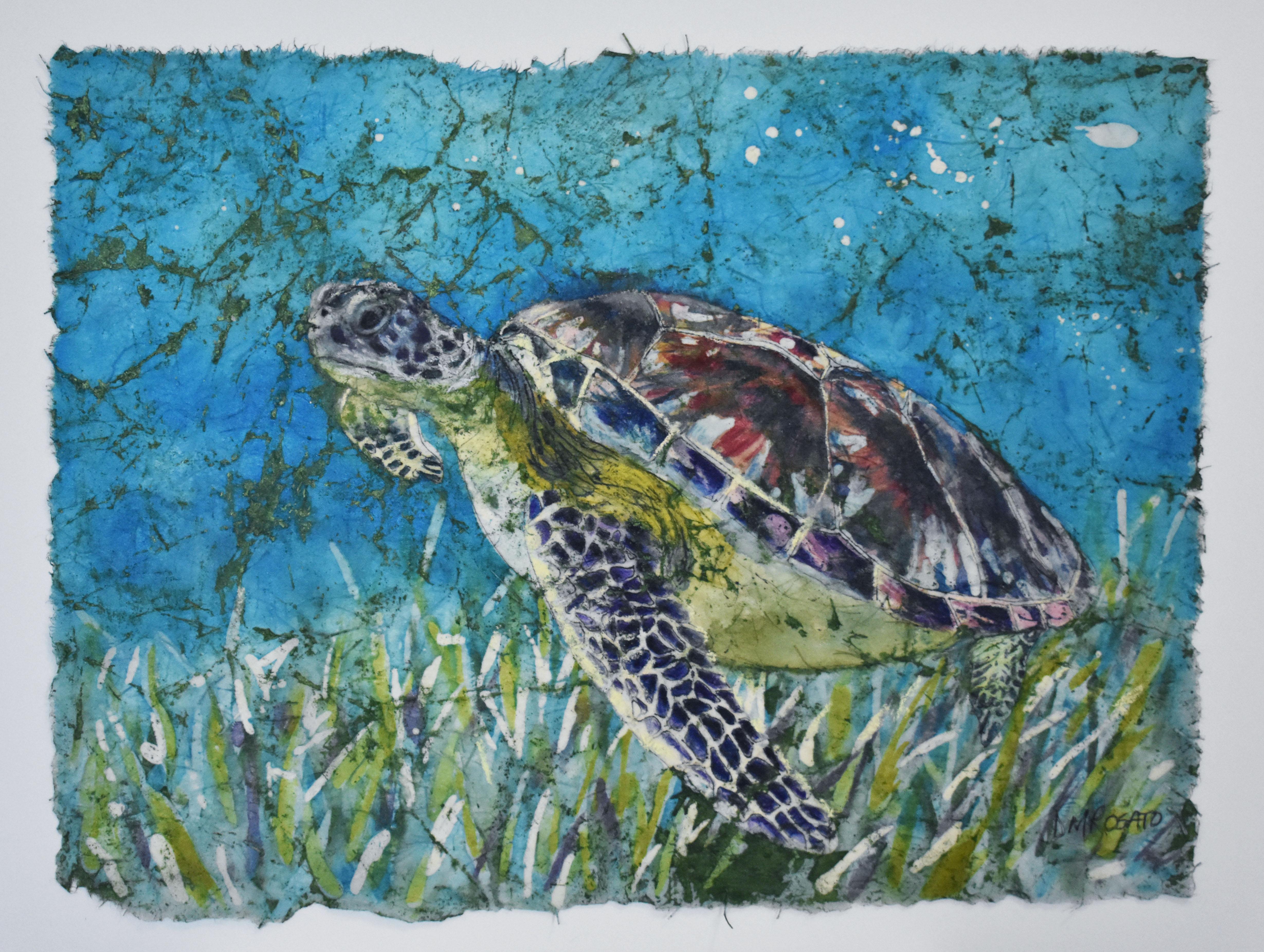 Green Turtle 14x11