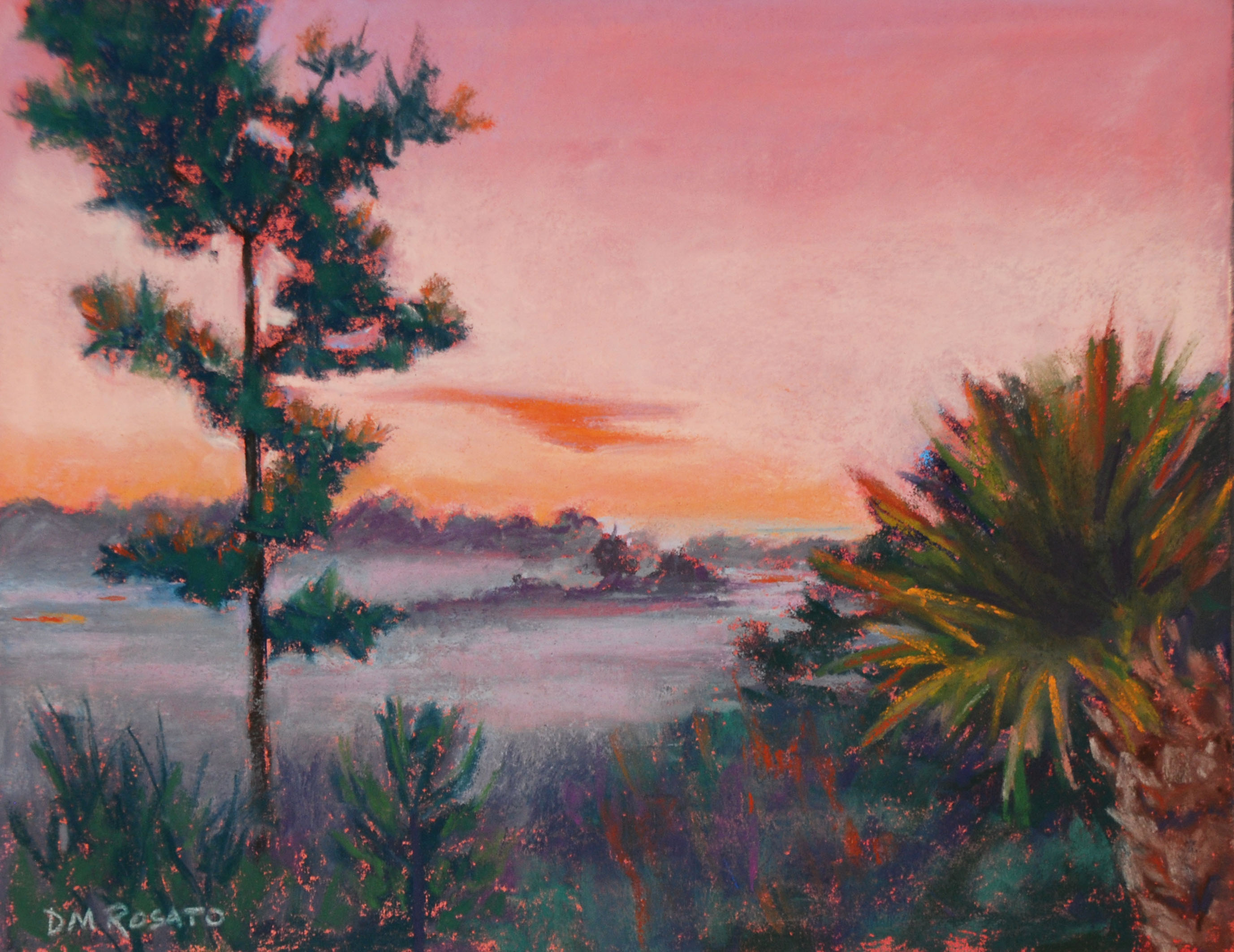 Foggy Sunrise 14x11