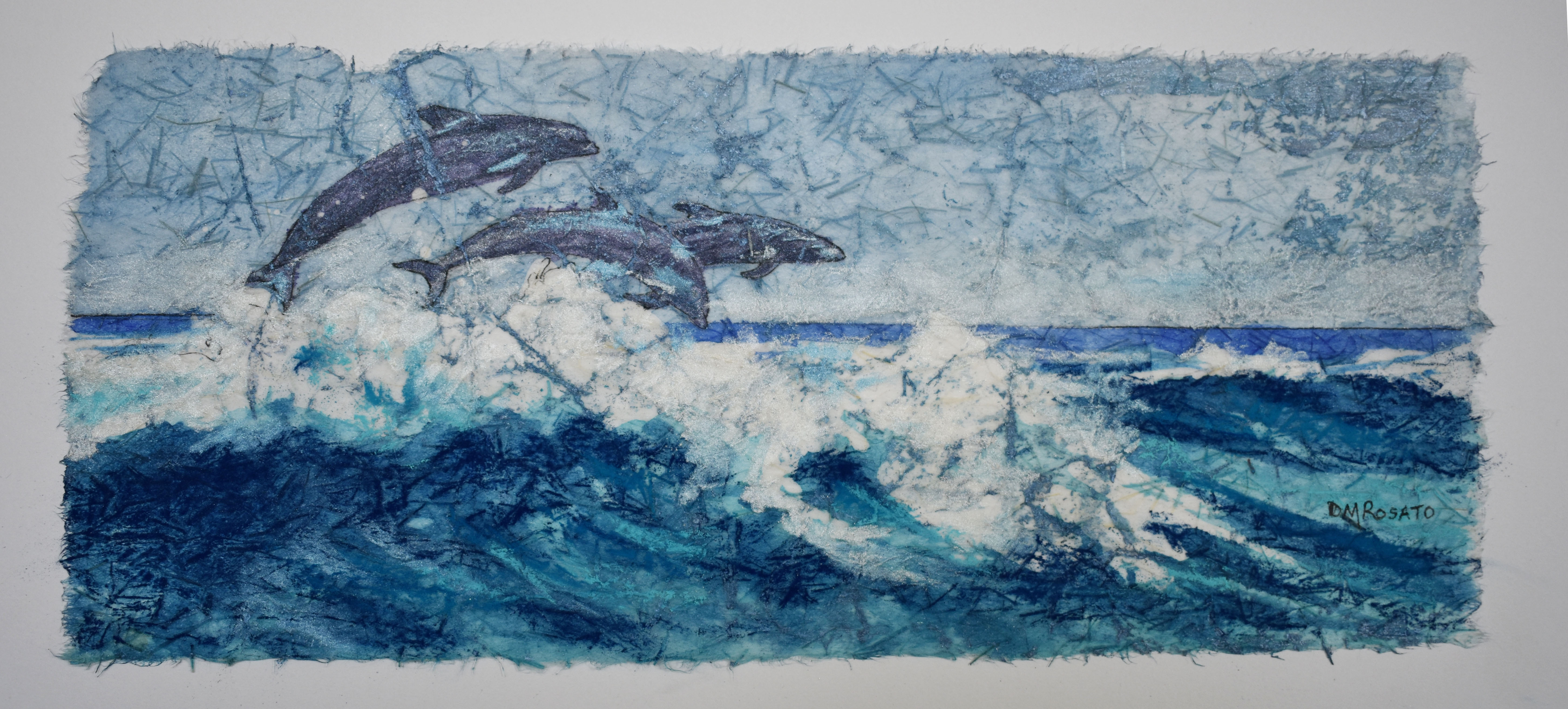 Dancing Dolphins 17x8