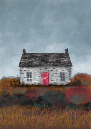 Alexandra Borghino - Digital painting - Borders' Cottage