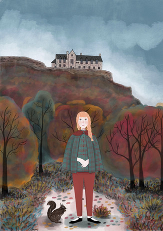 Alexandra Borghino - Digital painting - Edinburgh Castle