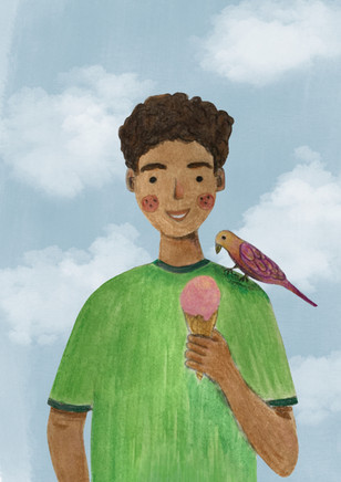 Alexandra Borghino - The boy and the Bird
