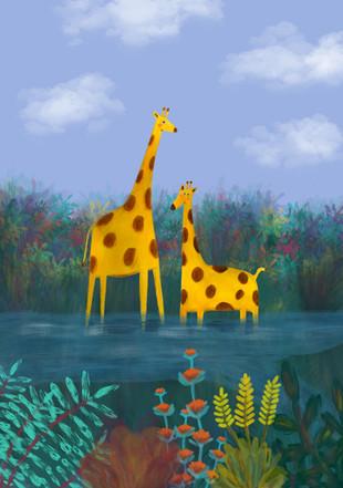 Alexandra Borghino - Giraffe Family