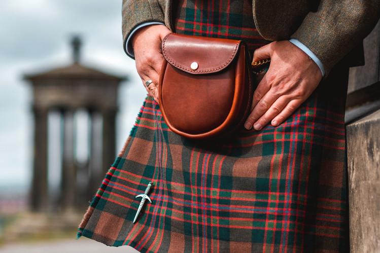 Gordon Nicolson Kiltmakers | Collaboration with Mackenzie Leather Edinburgh