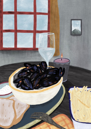 Alexandra Borghino -Digital painting - Scottish Meal