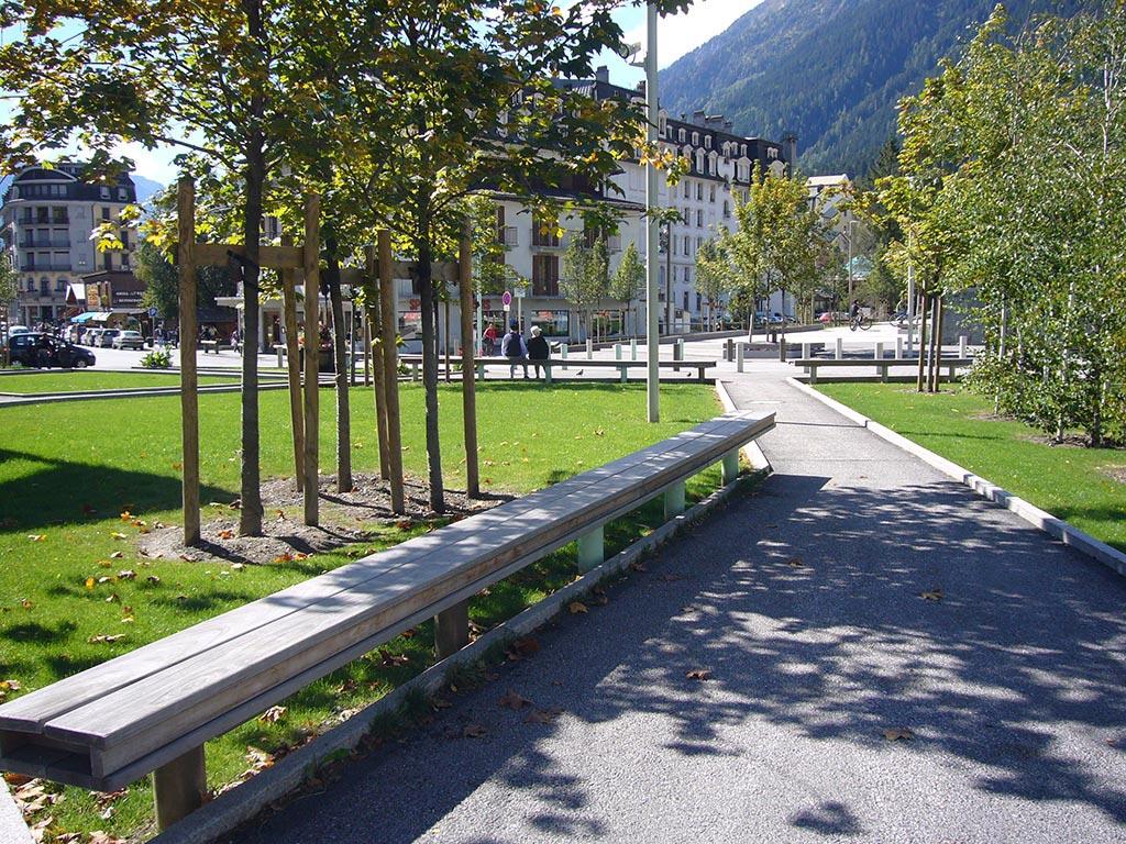 Chamonix place du Mont Blanc