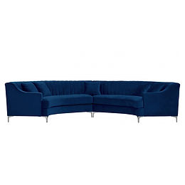 Channel Tufted Curved Sofa