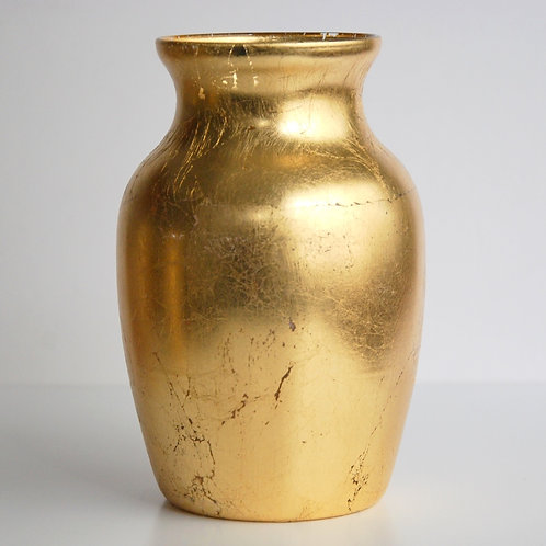 "Aida 7"" Gold Flower Vase"