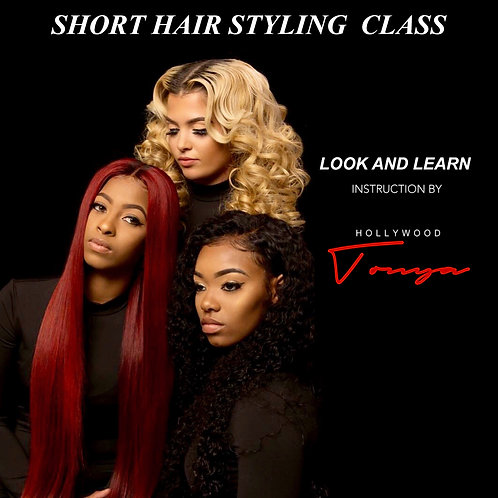 Short Hairstyling Look and Learn