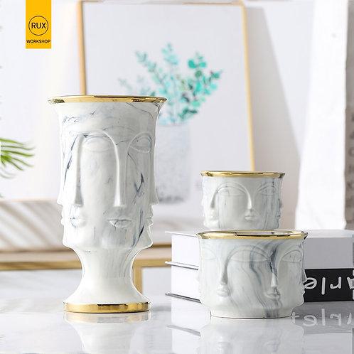 Let's Face It Marble  Vase