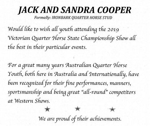 Jack & Sandra Cooper - Half page in prog