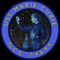 The original USS Marie Curie ship patch