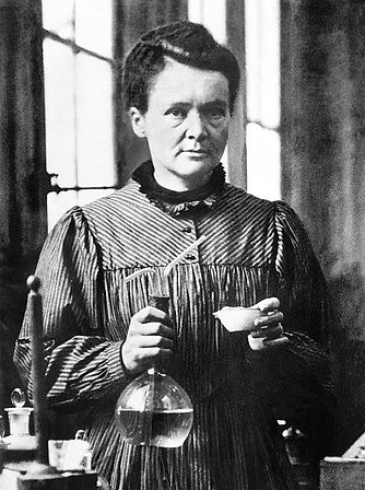 A photo of Marie Curie.